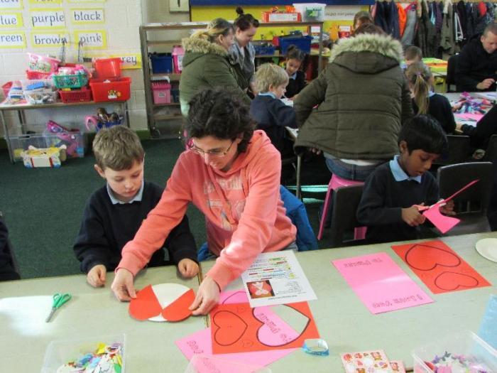 Valentines Art Craft Morning In Mrs Kelly S Senior Infants